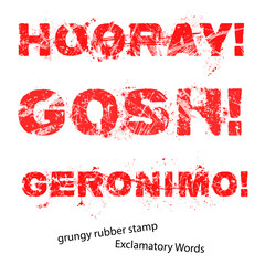 Grunge rubber stamp with text hooray gosh geronimo ,vector illus