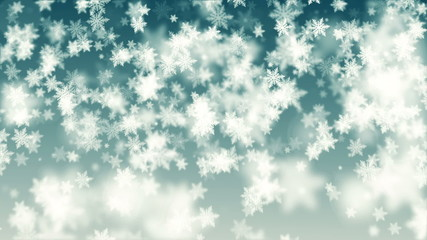 Beautiful Christmas snowflakes seamless falling