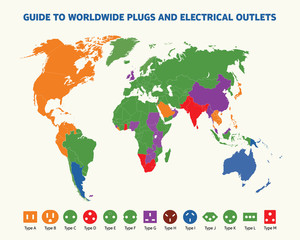 Guide to worldwide plugs and electrical outlets