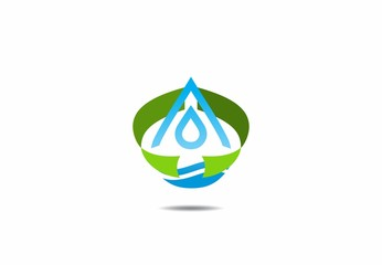 Save Pure Water Drop Logo
