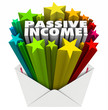 Постер, плакат: Passive Income Envelope Words Easy Money Earning Payment Salary