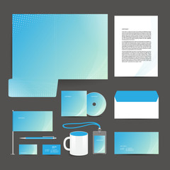 Corporate identity template design stationery.