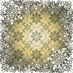 Christmas decoration frame. Snowflake Abstract Background.