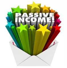 Passive Income Envelope Words Easy Money Earning Payment Salary