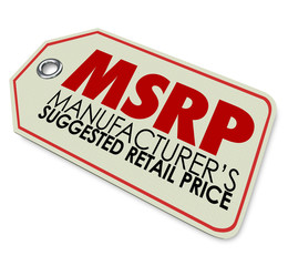 MSRP Manufacturers Suggested Retail Price Store Tag Sticker
