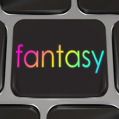 Fantasy Computer Keyboard Button Instant Dream Come True