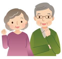 高齢者の夫婦 シニア 男女