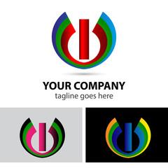 Logo letter I company vector design template