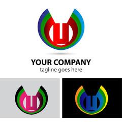 Logo letter U company vector design template