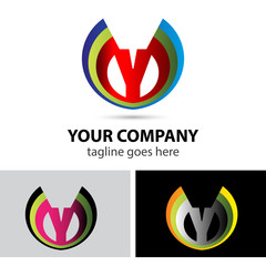 Logo letter Y company vector design template