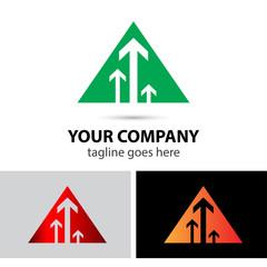 Triangle with arrow logo