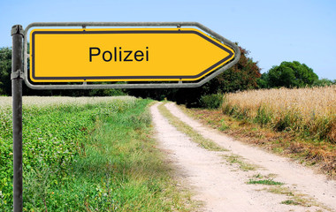 Strassenschild 21 - Polizei