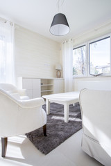 White furnitures in living room