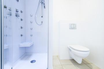 Fresh bathroom with modern shower