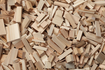 pile of wooden blocks/Tree of cedar