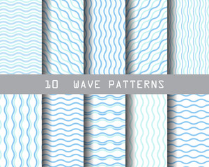 10 simple blue wave patterns
