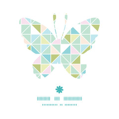 Vector colorful pastel triangle texture butterfly silhouette