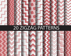 20 zigzag patterns