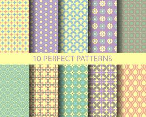 10 cute vintage geometric patterns