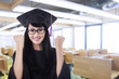 Asian graduate celebrate graduation
