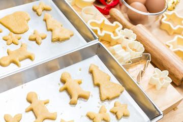 Christmas cookies preparation