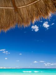 Cancun beach on sunny day