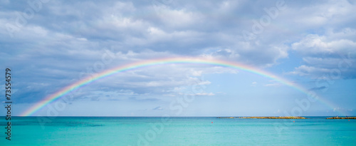 Plexiglas Mexico Rainbow over ocean
