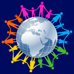 Community of people joined around the globe 3