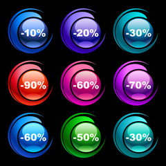 Colorful discount labels 6