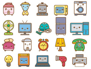 Vector Illustration of Home appliances and electronics