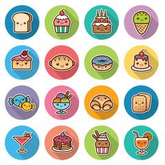 Vector illustration of Dessert
