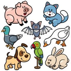 Vector illustration of Animals cartoon