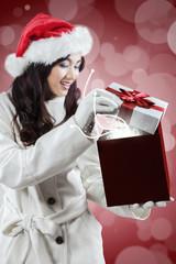 Girl opens her wish gift