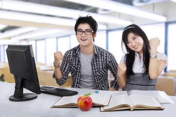 Joyful students expressing success 1