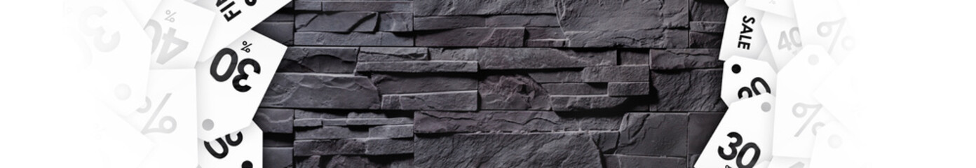 Clearance sale on texture of gray stone wall