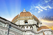 canvas print picture - Details of Brunelleschi's dome in Florence