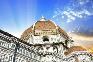 Details of Brunelleschi's dome in Florence