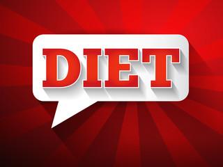 DIET Message bubble, promotional background, presentation