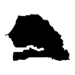 vector map of map of Senegal
