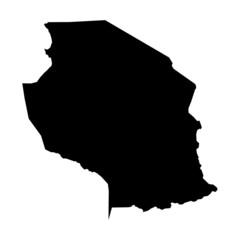 vector map of map of Tanzania