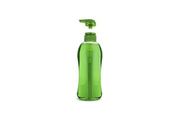 Shampoo on white background