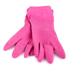 Pair household working rubber gloves