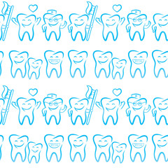 Smiling dental symbols