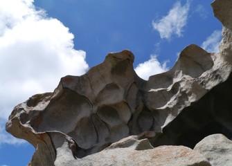 The whimsical shapes of rocks on Kangaroo island