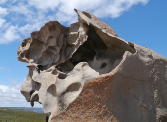 The whimsical shapes of rocks on Kangaroo island
