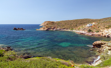 Fykiada bay, Kimolos island, Cyclades, Greece