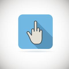 Flat finger up icon