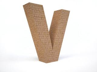 Brick Letter V