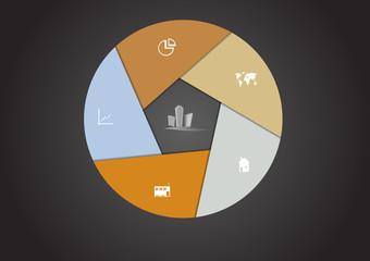 Real Estate hexagon infographic