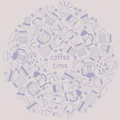 Coffee round background